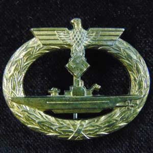 Kriegsmarine Submariners U-boat badge